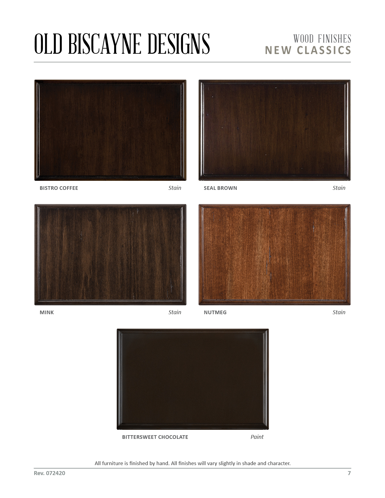 Wood Finishes 07. Old Biscayne Designs